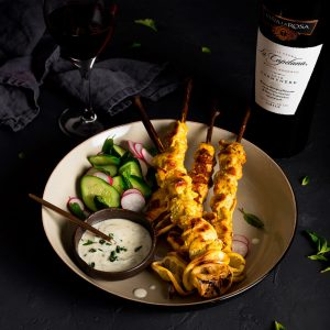 Grilled Lemon-Turmeric Chicken Skewers